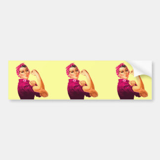 Cancer Awareness Rosie The Riveter Bumper Sticker