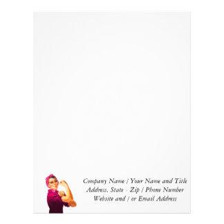 Cancer Awareness Rosie The Riveter Letterhead