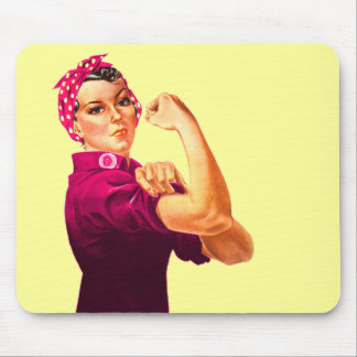 Cancer Awareness Rosie The Riveter Mouse Pad