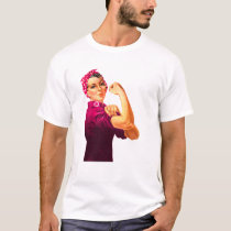 Cancer Awareness Rosie The Riveter T-Shirt