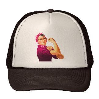 Cancer Awareness Rosie The Riveter Trucker Hat