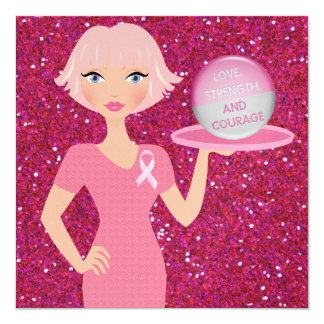 Cancer Awareness - Serving Strength and Courage Card