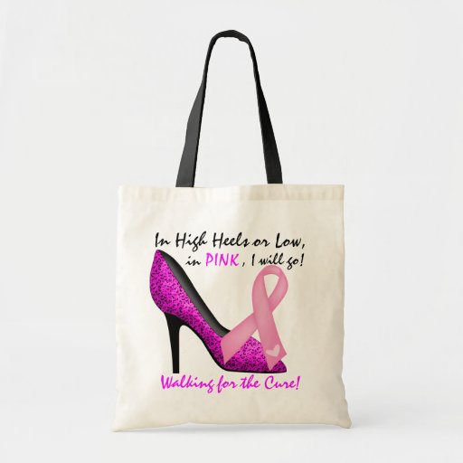 Cancer Awareness Tote by SRF Canvas Bag