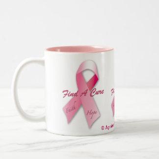 Cancer Awareness Two-Tone Coffee Mug