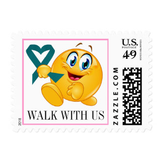 Cancer Awareness - Walk for the Cure - srf Postage Stamp