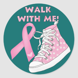 Cancer Awareness - Walking for the Cure Round Sticker