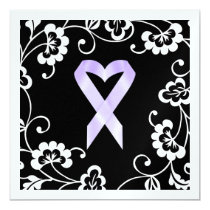 Cancer Awareness - White Ribbon Invitation