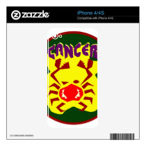 Cancer Badge Skin For iPhone 4