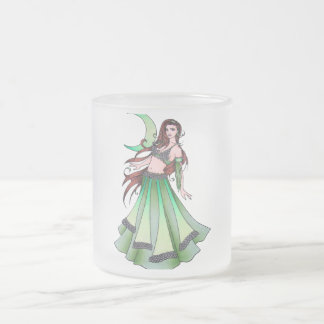 Cancer Belly Dancer Frosted Glass Coffee Mug