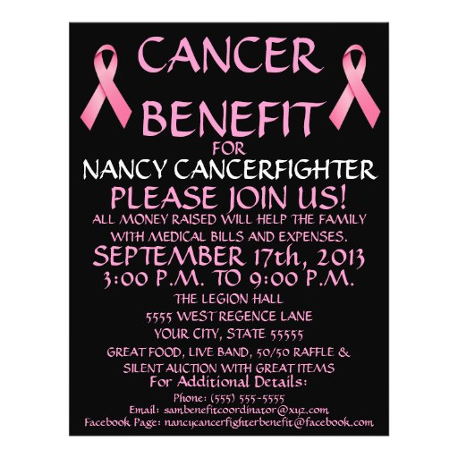 cancer benefit flyer
