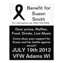 Cancer benefit flyer