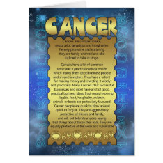 Cancer Birthday Card - Zodiac Birthday Card - Canc at Zazzle