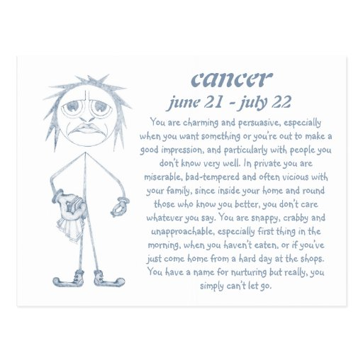 Cancer [ - BitchScope - ] Postcard Post Cards