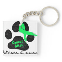 Cancer Bites Quote  - Hodgkins Lymphoma Cancer - L Keychain