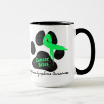 Cancer Bites Quote  - Hodgkins Lymphoma Cancer - L Mug