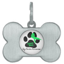 Cancer Bites Quote  - Hodgkins Lymphoma Cancer - L Pet Name Tag