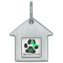 Cancer Bites Quote  - Hodgkins Lymphoma Cancer - L Pet Tag