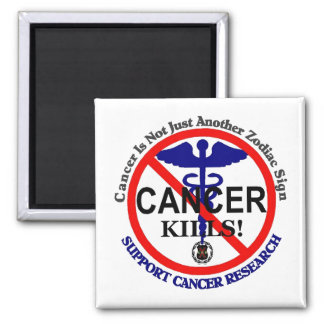 Cancer blue magnet template