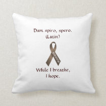 Cancer Brown Survivor Ribbon Pillow