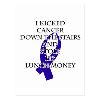 Cancer Bully (Dark Blue Ribbon) Postcard