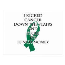 Cancer Bully (Green Ribbon) Postcard