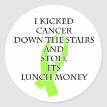Cancer Bully (Lime Green Ribbon) Classic Round Sticker