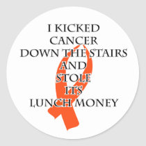 Cancer Bully (Orange Ribbon) Classic Round Sticker