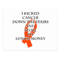 Cancer Bully (Orange Ribbon) Postcard