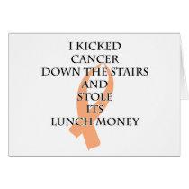 Cancer Bully (Peach Ribbon) Card