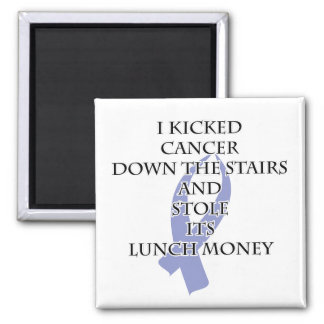 Cancer Bully (Periwinkle Ribbon) 2 Inch Square Magnet