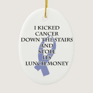 Cancer Bully (Periwinkle Ribbon) Ceramic Ornament
