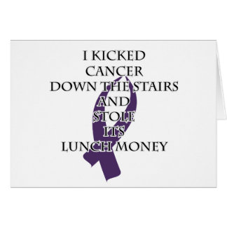 Cancer Bully (Purple Ribbon) Card