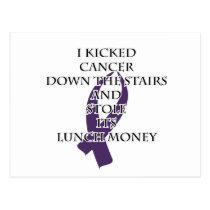 Cancer Bully (Purple Ribbon) Postcard