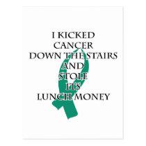 Cancer Bully (Teal Ribbon) Postcard