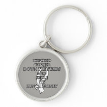 Cancer Bully (White Ribbon) Keychain