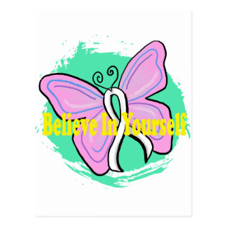 cancer butterfly postcard