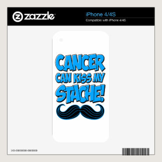 Cancer can Kiss my Stache (non-apparel) Skin For The iPhone 4