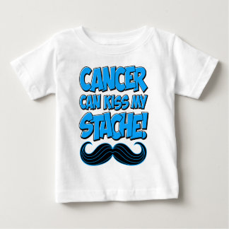 Cancer can Kiss my Stache! Tee Shirts