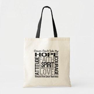 Cancer Can t Take My Hope Brain Cancer Tote Bag