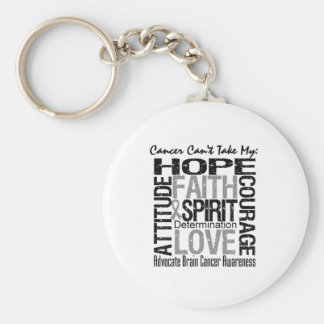 Cancer Can t Take My Hope Brain Cancer Keychains