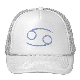 Cancer. Cancerian Zodiac Astrological Sign. Blue Mesh Hats