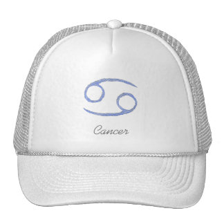 Cancer. Cancerian Zodiac Astrological Sign. Blue Mesh Hat