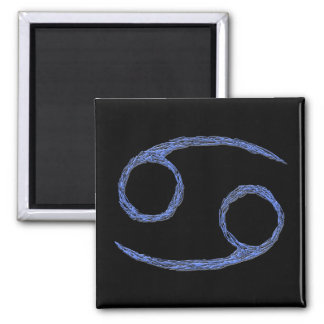 Cancer. Cancerian Zodiac Astrological Sign. Blue Magnet
