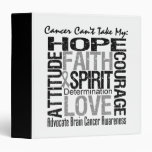 Cancer Can't Take My Hope Brain Cancer Vinyl Binder