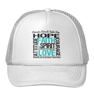 Cancer Can't Take My Hope Cervical  Cancer Mesh Hat