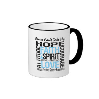Cancer Can't Take My Hope Collage Prostate Cancer Mugs