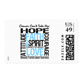 Cancer Can't Take My Hope Collage Prostate Cancer Postage Stamp