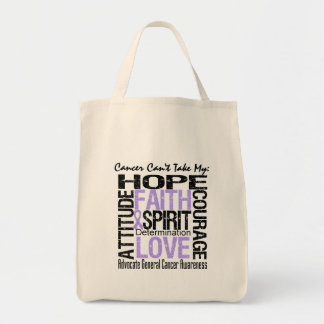 Cancer Can't Take My Hope General Cancer Grocery Tote Bag