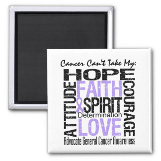 Cancer Can't Take My Hope General Cancer 2 Inch Square Magnet