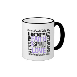 Cancer Can't Take My Hope General Cancer Ringer Coffee Mug